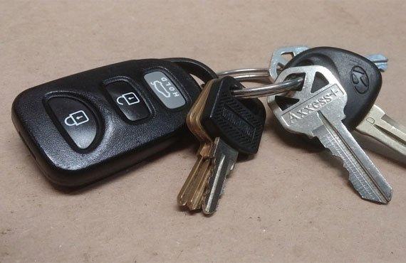 Auto Op Slot Sleutel Erin