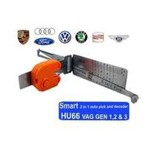 Lishi HU66 2-i-1 bilöppnarverktyg för VW och Audi inklusive nycklar