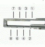 Lishi Herramientas para abrir cerraduras de coche HU66 con llaves 2 in 1 para grupo Audi VW