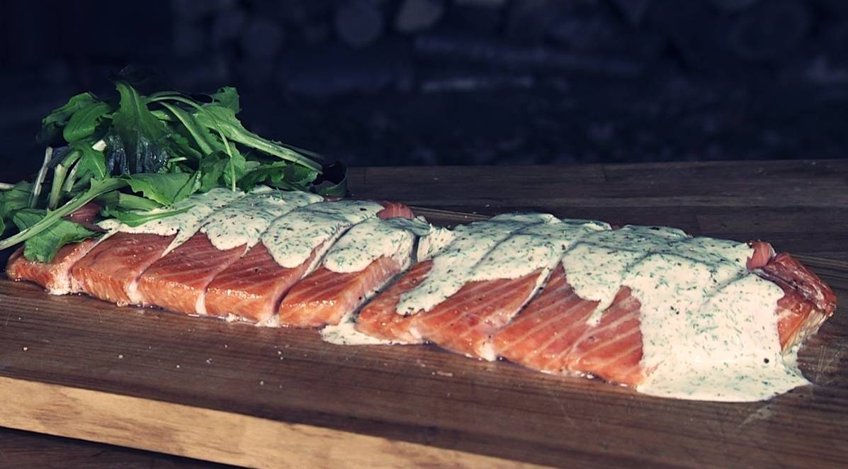 Gerookte zalm met honing dille mayonaise by Ralph de Kok