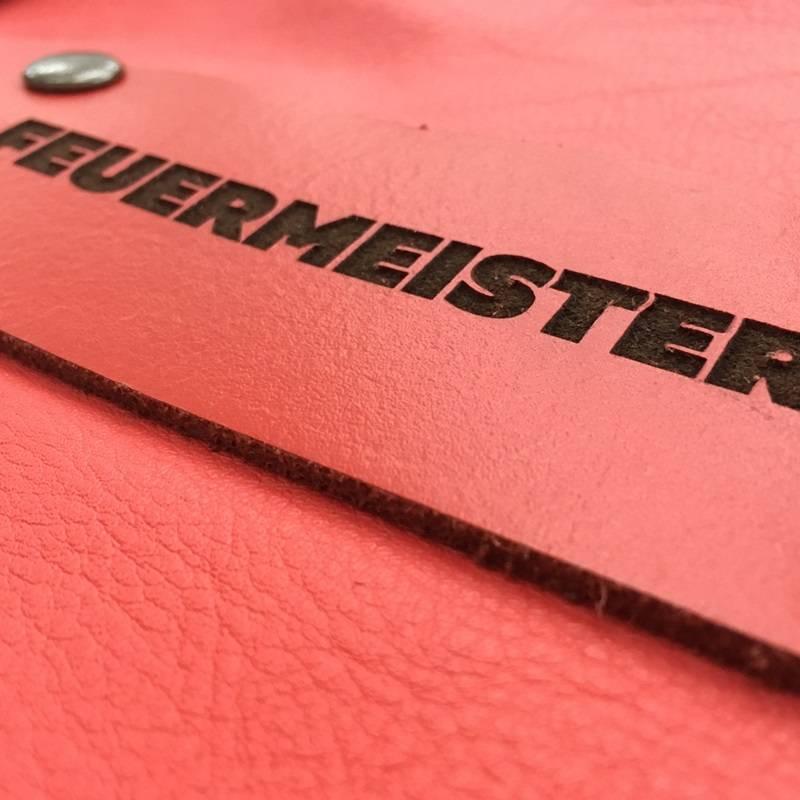 Feuermeister® Premium Leren Schort Rood