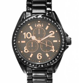 IKKI Alexi black/rose gold horloge AX-07