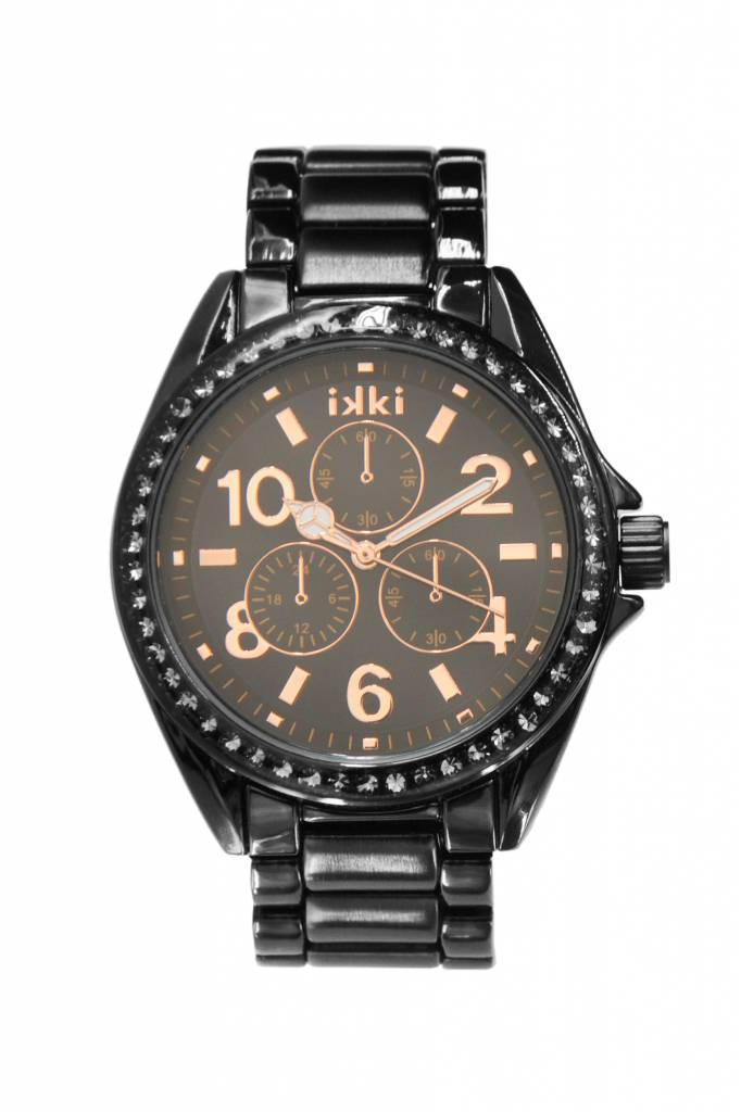 IKKI Alexi black/rose gold horloge AX-07