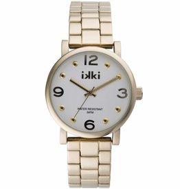Uitverkoop IKKI Brooklyn gold/silver horloge BK09