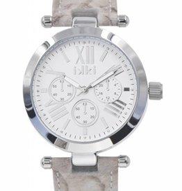 Uitverkoop IKKI Venus snake silver horloge VE07