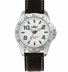 IKKI Jack dark brown / white horloge JK-05 heren