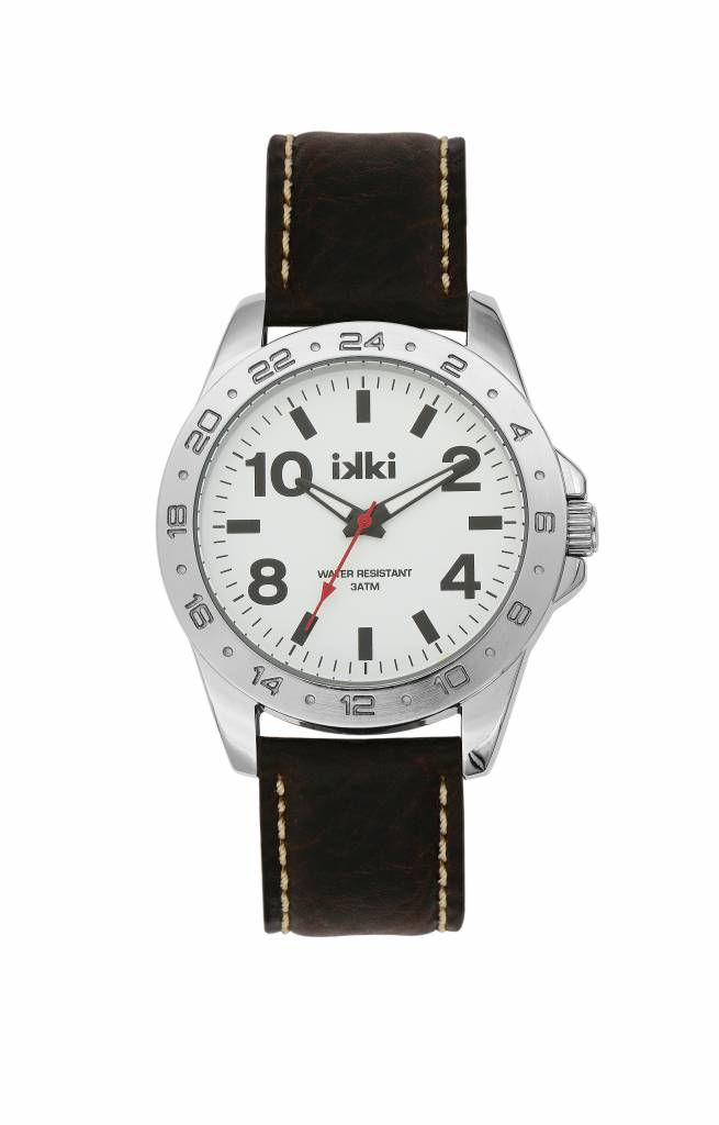 IKKI Jack dark brown / white horloge JK-05 heren