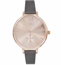 IKKI Estelle brown/rose gold horloge ET10