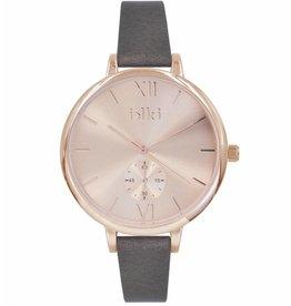 Uitverkoop IKKI Estelle brown/rose gold horloge ET10