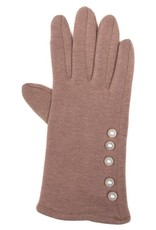 Tantrend Beige handschoenen met parelstrip