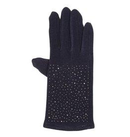 Uitverkoop Blauwe handschoenen met hematiet kristallen