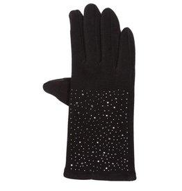 Uitverkoop Zwarte handschoenen met hematiet kristallen