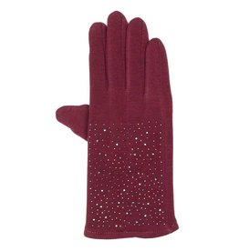Uitverkoop Bordeaux handschoenen met hematiet kristallen
