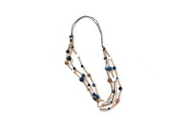 Uitverkoop Ernesto de Barcelona - Houten halskettingen