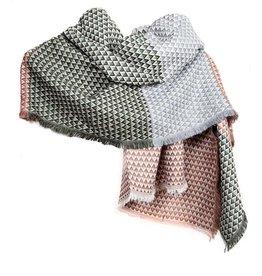 Sjaal met geometrische retro driehoeken