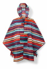 Mini maxi poncho artist stripes