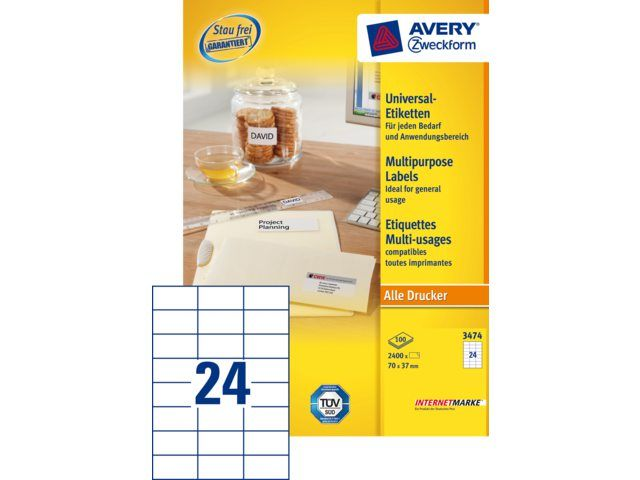 avery zweckform 3474