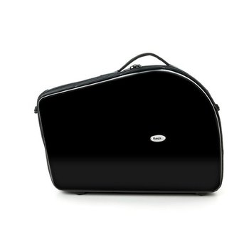 BAGS Waldhorn Formkoffer – schraubbarer Becher – mit Dämpferfach – Farbe: schwarz glänzend – Deckel 2 cm höher –