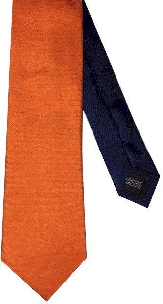 Stropdas tweekleurig - Oranje