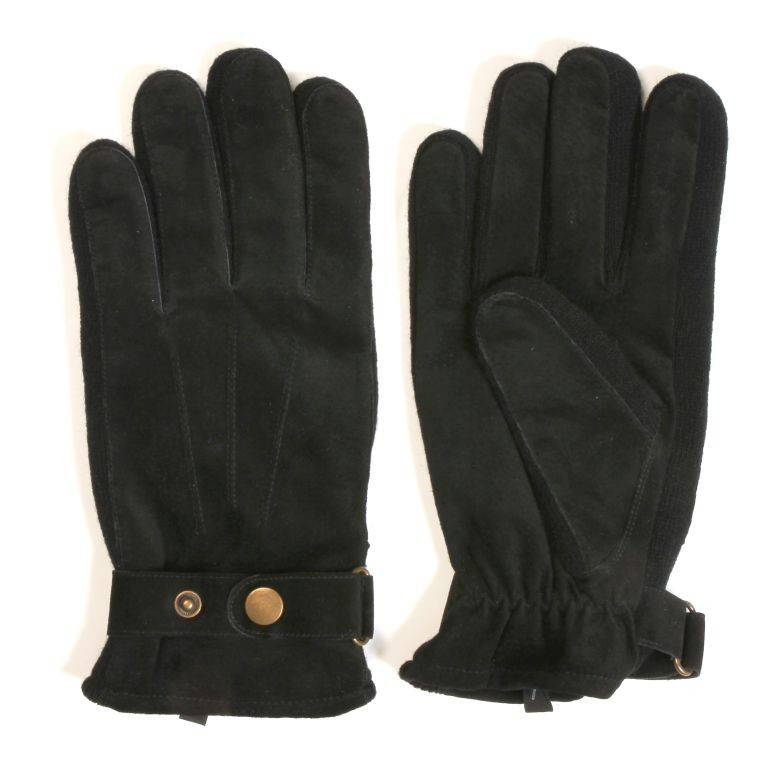 Suede Handschoen - Zwart