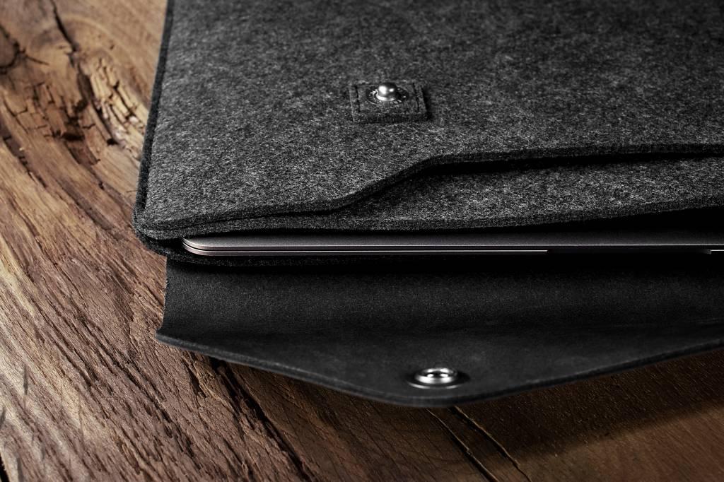 "Mujjo Mujjo 12"" MacBook Sleeve Zwart"