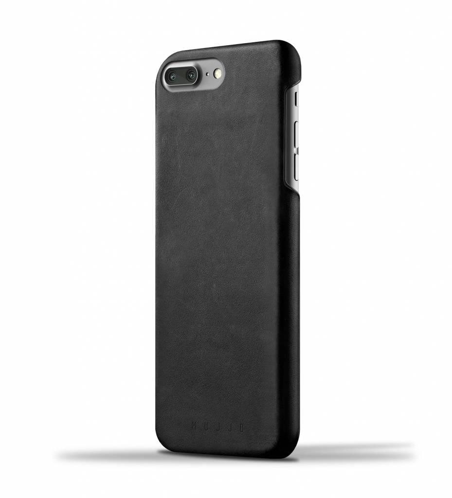Mujjo Mujjo Case Leren Hoesje voor iPhone 7 Plus Zwart
