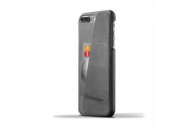 Mujjo Wallet Leren Hoesje voor iPhone 7 Plus Grijs