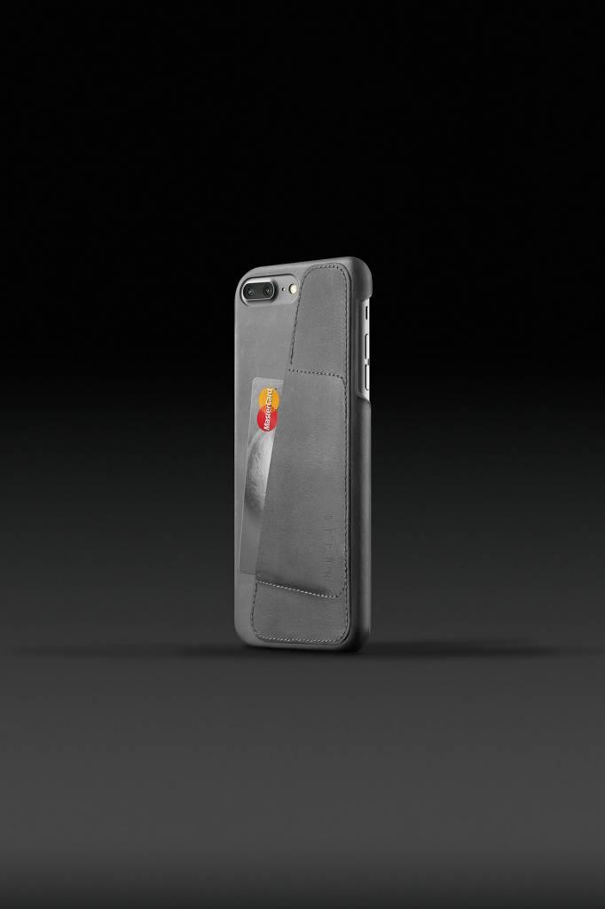 Mujjo Mujjo Wallet Leren Hoesje voor iPhone 7 Plus Grijs