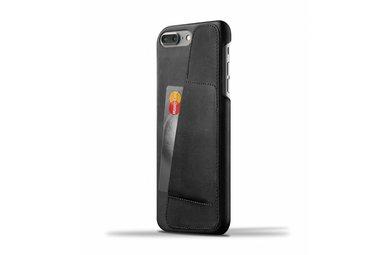 Mujjo Wallet Leren Hoesje voor iPhone 7 Plus Zwart