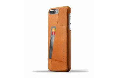 Mujjo Wallet Leren Hoesje voor iPhone 7 Plus Bruin