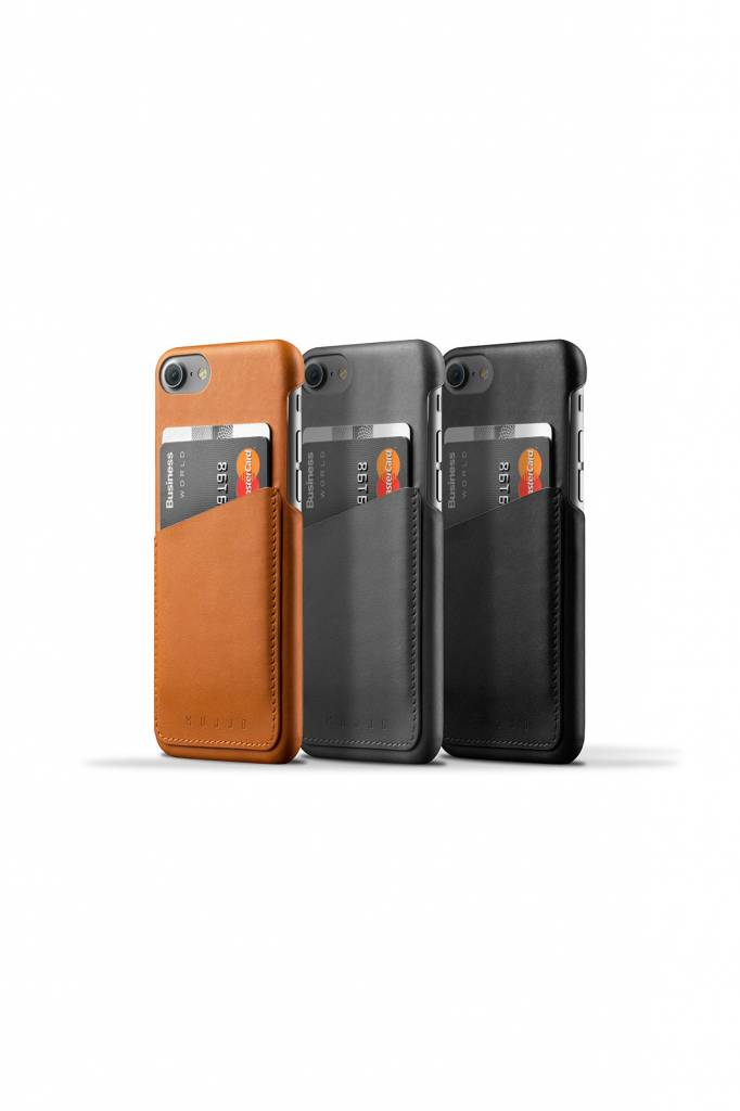 Mujjo Mujjo Wallet Leren Hoesje voor iPhone 7 Grijs