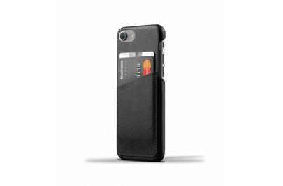 Mujjo Wallet Leren Hoesje voor iPhone 7 Zwart