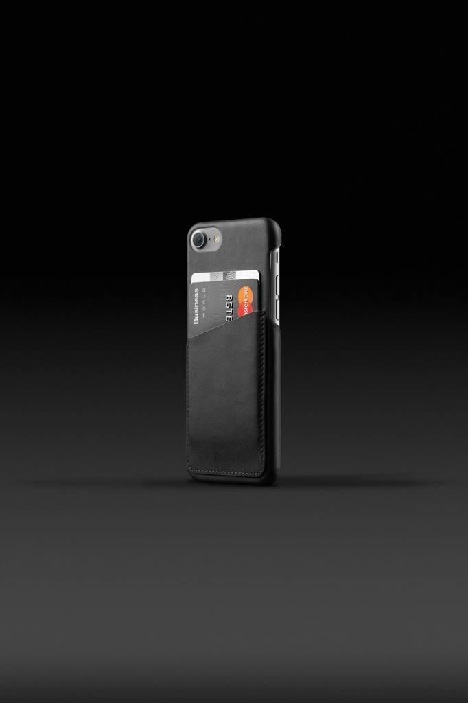 Mujjo Mujjo Wallet Leren Hoesje voor iPhone 7 Zwart