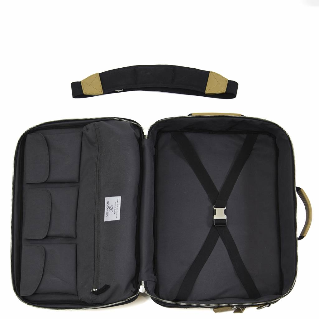 Venque Venque Briefpack XL Laptoptas Zwart