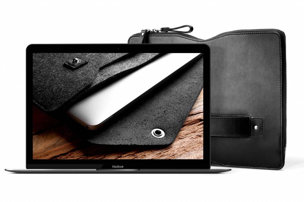 "Mujjo Mujjo 13"" MacBook Pro Folio Sleeve Zwart"