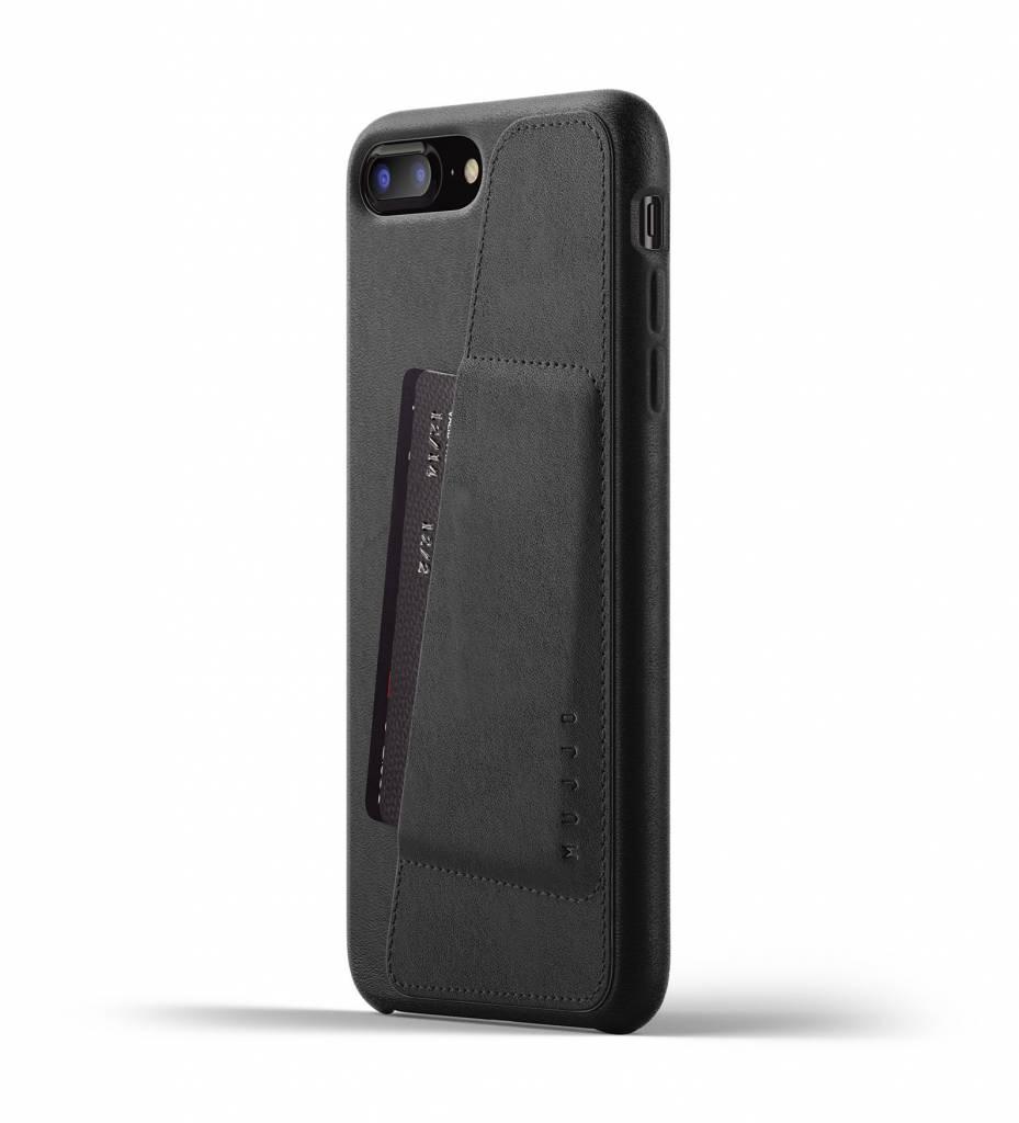 Mujjo Mujjo Wallet Leren Hoesje voor iPhone 7/8 Plus Zwart