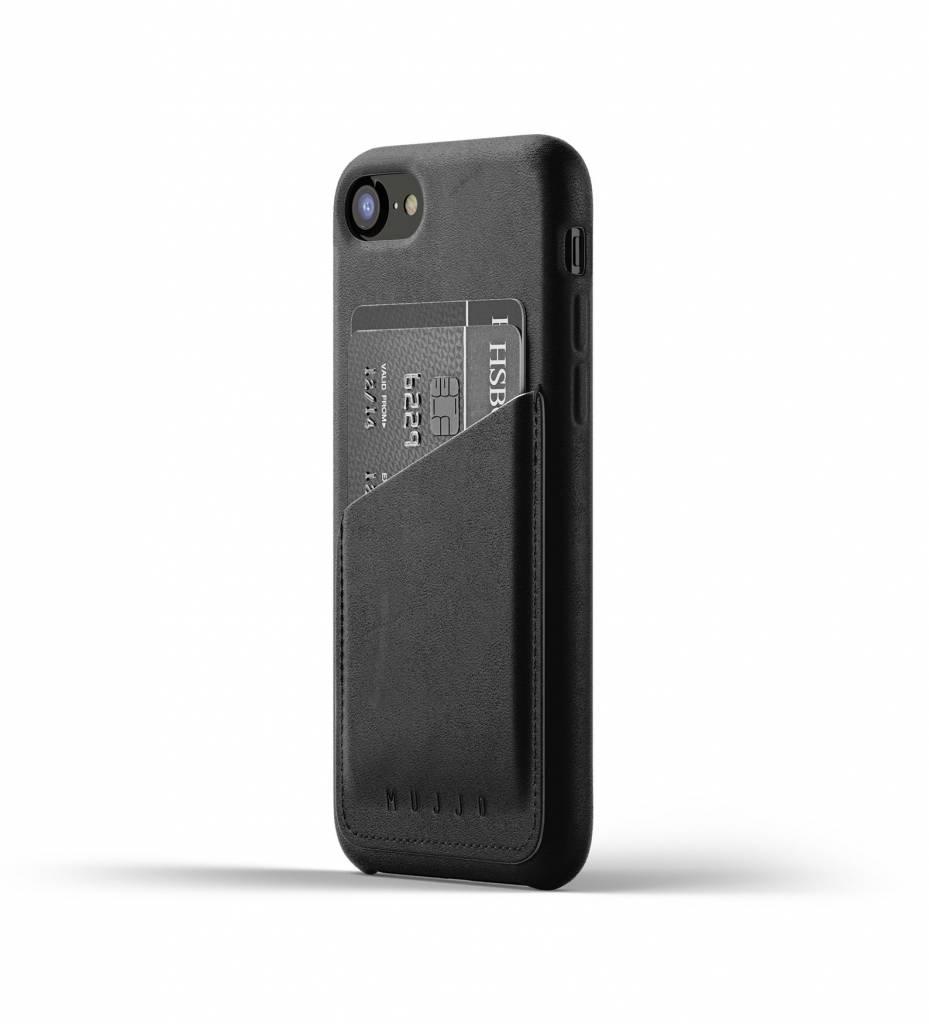 Mujjo Mujjo Wallet Leren Hoesje voor iPhone 7/8 Zwart