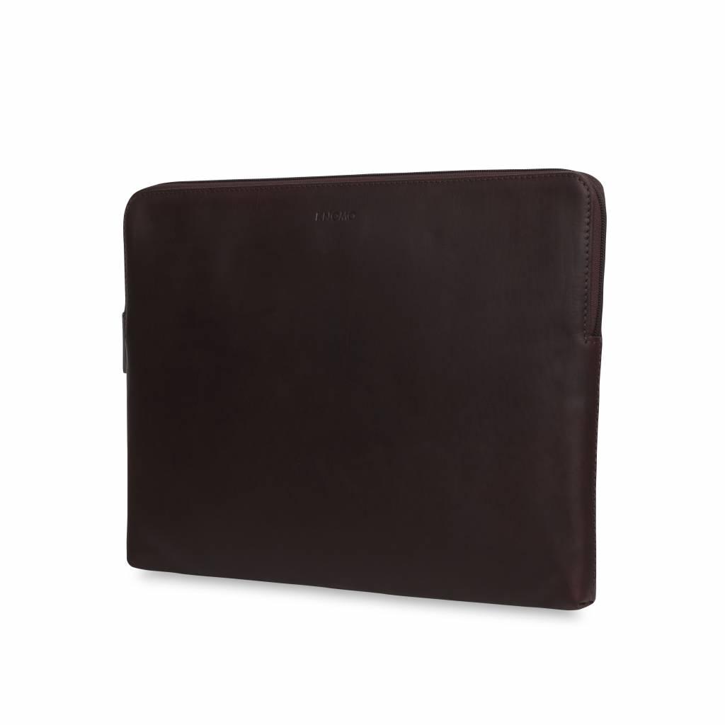 """Knomo Knomo Leren Laptop Sleeve 13"""" Bruin"""