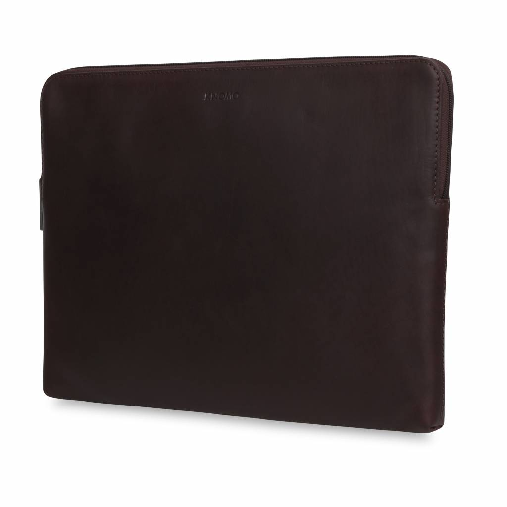 """Knomo Knomo Leren Laptop Sleeve 15"""" Bruin"""