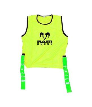 RAM Rugby 10x Shirt-Leibchen mit Tags für Tag-Rugby - XL, M oder S, Rugby