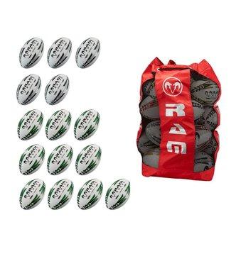 RAM Rugby 15x Match & Pro Trainingspaket + Balltasche, Rugbybälle kaufen