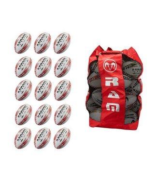 RAM Rugby 15 Squad Trainingsballpaket + Große Balltasche