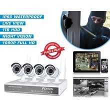 Fenton Draadloos bewakingssysteem met 4 HD-camera's