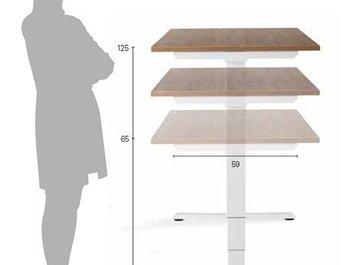 Een zit sta bureautafel voor de ideale werkplek