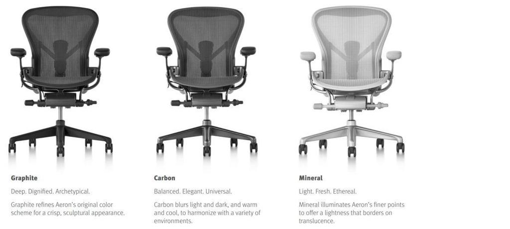 bureaustoel Aeron kleuren