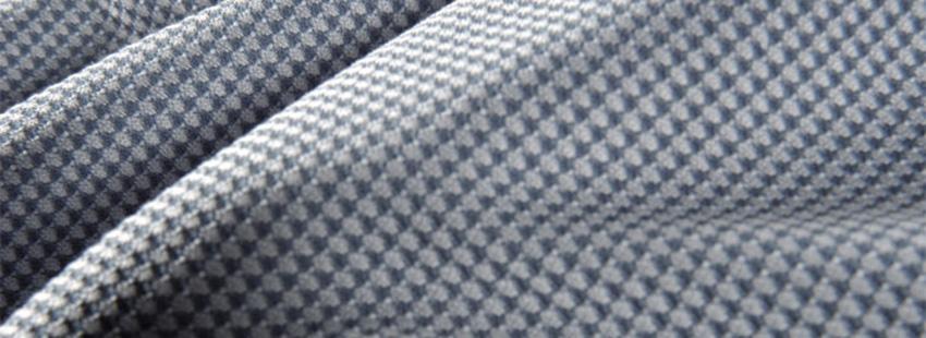 Detailopname van Odlo Cubic Light stof.