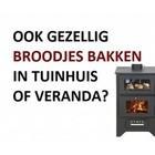 BACOR Plaatstalen houtkachel met oven BC21 - 14 KW