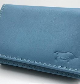 Arrigo Koraal blauwe Anti Skim portemonnee
