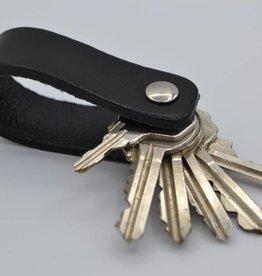 Arrigo zwarte echt lederen sleutelhanger