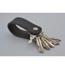 Arrigo gray real leather keychain